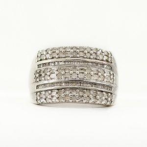 Genuine Diamond Cocktail Ring